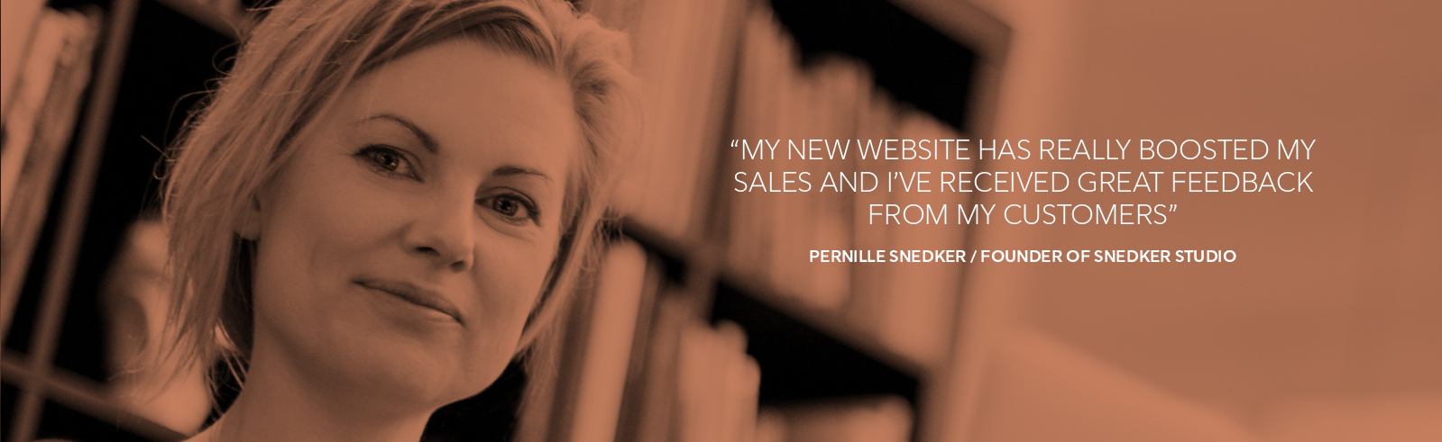 Pernille snedker, founder of snedker studio, snedker studio, best website builder, SMB, website