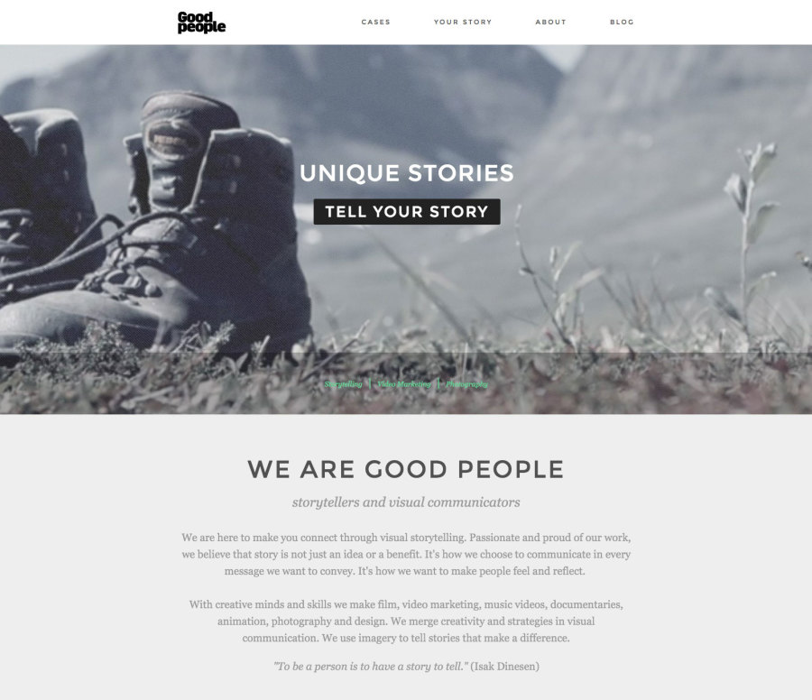 modern web design, good people, website