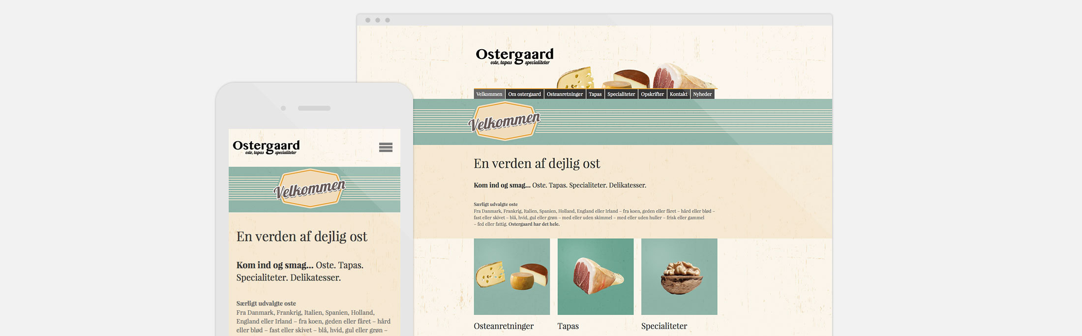 Ostegaard, best website builder, SMB, website, cheese, food