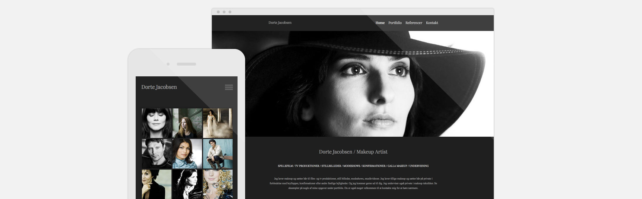Dorte Jacobsen, best website builder, SMB, website, photography