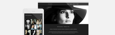 Responsive hjemmeside for Dorthe Jacobsen